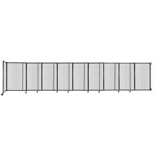 """StraightWall Wall-Mounted Sliding Partition 19'9"""" x 4' Clear Poly Polycarbonate"""