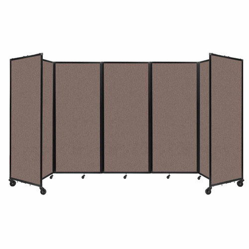 """Room Divider 360 Folding Portable Partition 14' x 6'10"""" Latte Fabric"""