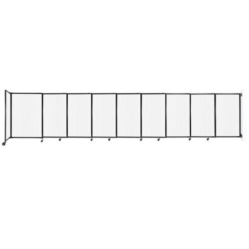 """StraightWall Wall-Mounted Sliding Partition 19'9"""" x 4' Opal Poly Polycarbonate"""