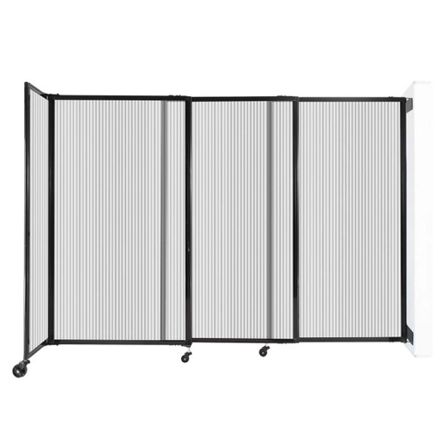 """StraightWall Wall-Mounted Sliding Partition 7'2"""" x 5' Clear Poly Polycarbonate"""