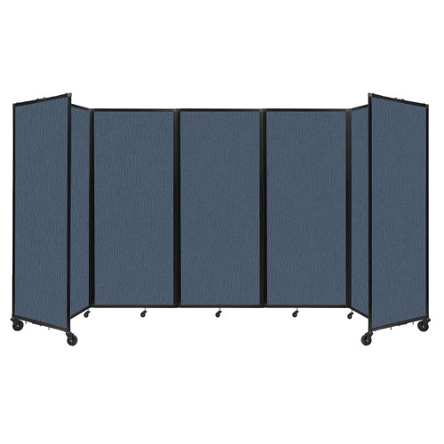 """Room Divider 360 Folding Portable Partition 14' x 6'10"""" Ocean Fabric"""