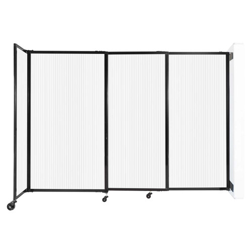"""StraightWall Wall-Mounted Sliding Partition 7'2"""" x 5' Opal Poly Polycarbonate"""