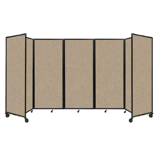"""Room Divider 360 Folding Portable Partition 14' x 6'10"""" Rye Fabric"""