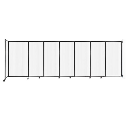 """StraightWall Wall-Mounted Sliding Partition 15'6"""" x 5' Opal Poly Polycarbonate"""