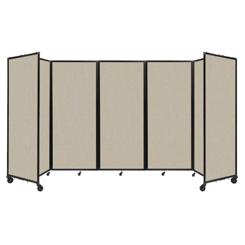 """Room Divider 360 Folding Portable Partition 14' x 6'10"""" Sand Fabric"""