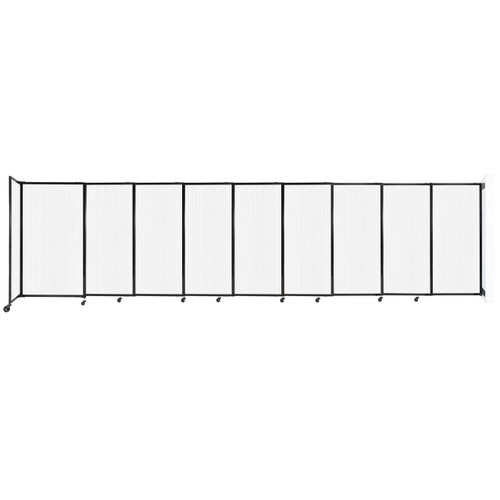"""StraightWall Wall-Mounted Sliding Partition 19'9"""" x 5' Opal Poly Polycarbonate"""