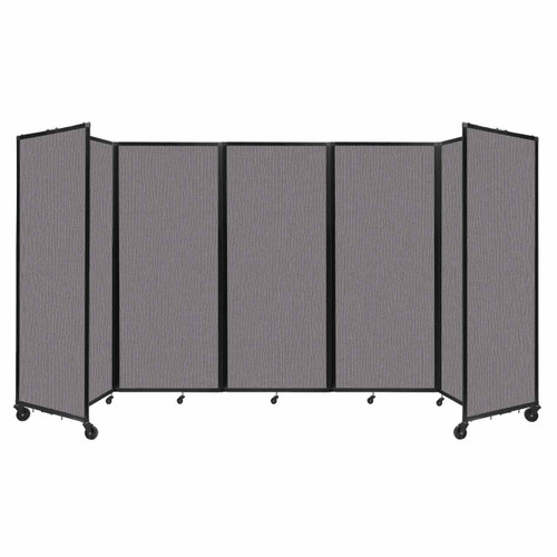 """Room Divider 360 Folding Portable Partition 14' x 6'10"""" Slate Fabric"""