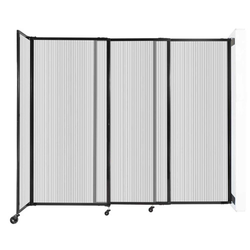 """StraightWall Wall-Mounted Sliding Partition 7'2"""" x 6' Clear Poly Polycarbonate"""