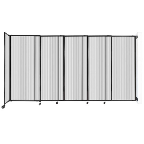 """StraightWall¨ Wall-Mounted Sliding Partition 11""""3' x 6' Clear Poly Polycarbonate"""