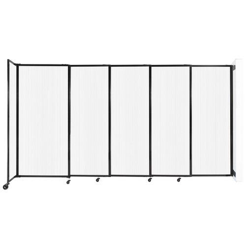 """StraightWall¨ Wall-Mounted Sliding Partition 11""""3' x 6' Opal Poly Polycarbonate"""