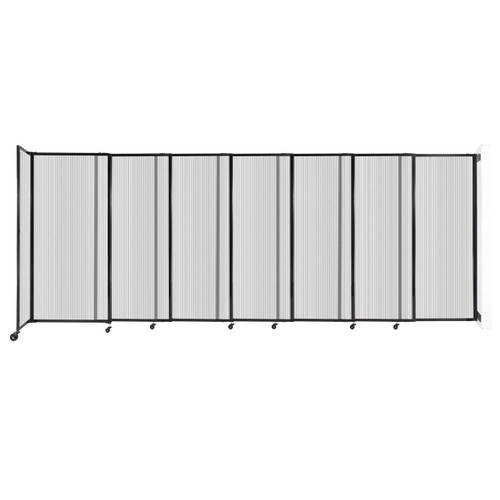 """StraightWall Wall-Mounted Sliding Partition 15'6"""" x 6' Clear Poly Polycarbonate"""
