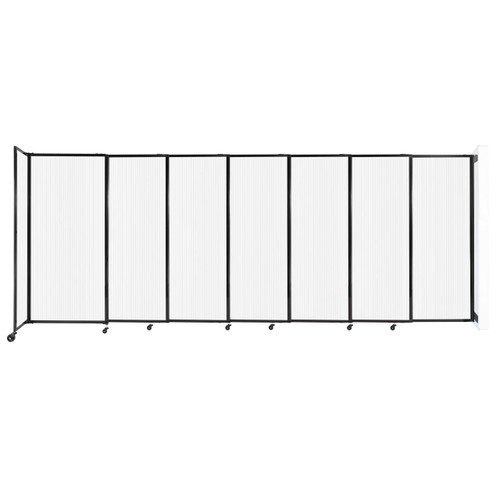 """StraightWall Wall-Mounted Sliding Partition 15'6"""" x 6' Opal Poly Polycarbonate"""