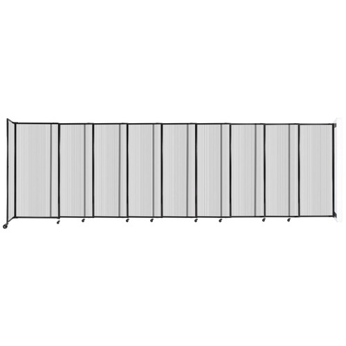 """StraightWall Wall-Mounted Sliding Partition 19'9"""" x 6' Clear Poly Polycarbonate"""