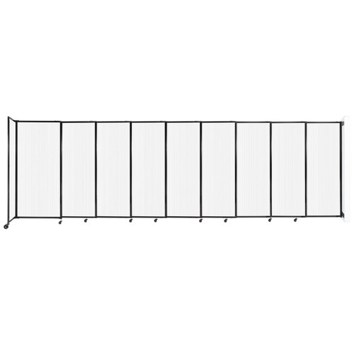 """StraightWall Wall-Mounted Sliding Partition 19'9"""" x 6' Opal Poly Polycarbonate"""