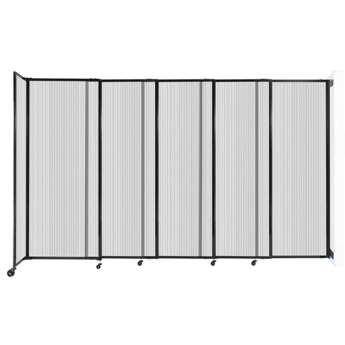 """StraightWall Wall-Mounted Sliding Partition 11'3"""" x 6'10"""" Clear Poly Polycarbonate"""