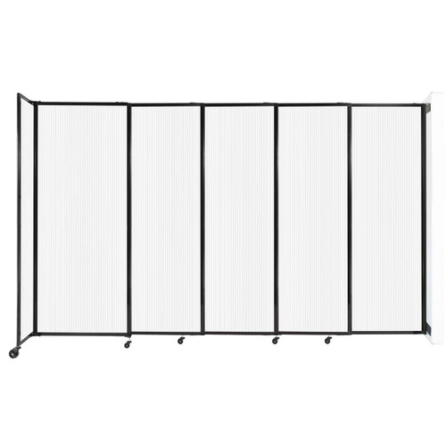 """StraightWall Wall-Mounted Sliding Partition 11'3"""" x 6'10"""" Opal Poly Polycarbonate"""