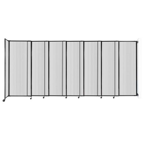 """StraightWall Wall-Mounted Sliding Partition 15'6"""" x 6'10"""" Clear Poly Polycarbonate"""