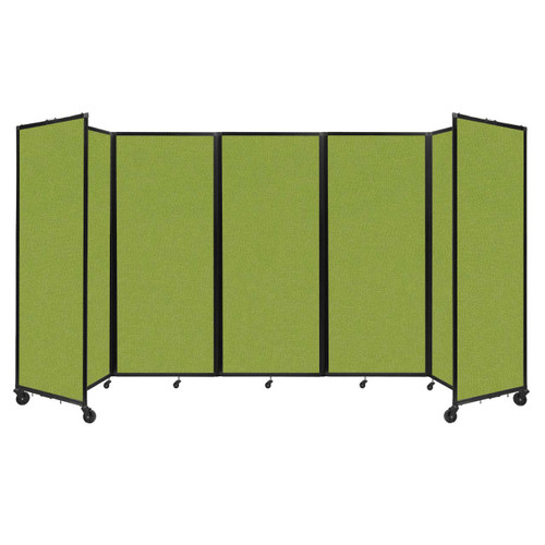 """Room Divider 360 Folding Portable Partition 14' x 6'10"""" Lime Green Fabric"""