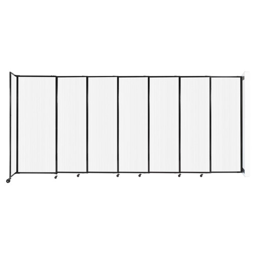 """StraightWall Wall-Mounted Sliding Partition 15'6"""" x 6'10"""" Opal Poly Polycarbonate"""