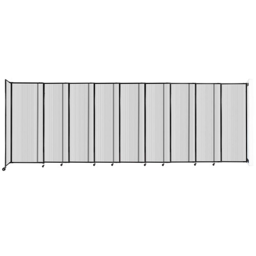 """StraightWall Wall-Mounted Sliding Partition 19'9"""" x 6'10"""" Clear Poly Polycarbonate"""
