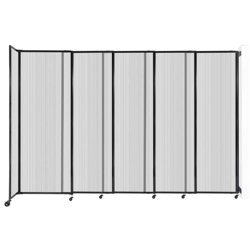 """StraightWall Wall-Mounted Sliding Partition 11'3"""" x 7'6"""" Clear Poly Polycarbonate"""
