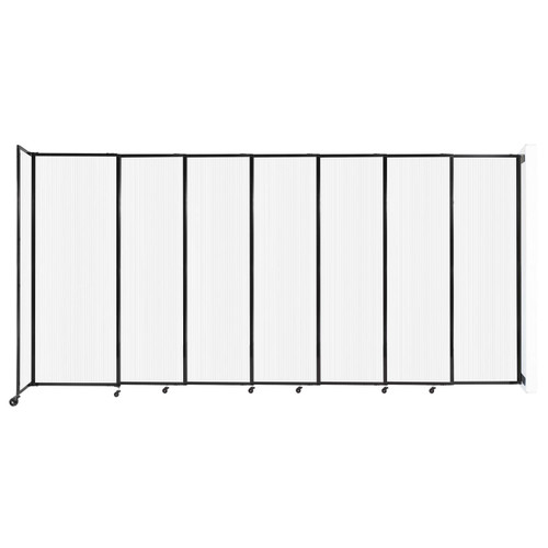 """StraightWall Wall-Mounted Sliding Partition 15'6"""" x 7'6"""" Opal Poly Polycarbonate"""