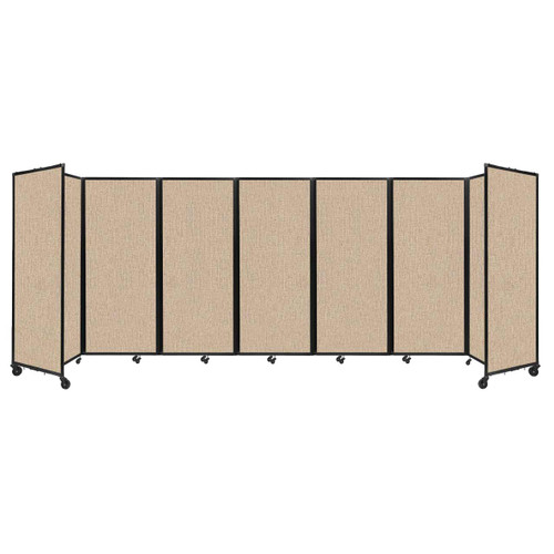 """Room Divider 360 Folding Portable Partition 19'6"""" x 6'10"""" Beige Fabric"""