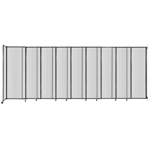 """StraightWall Wall-Mounted Sliding Partition 19'9"""" x 7'6"""" Clear Poly Polycarbonate"""