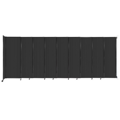 """StraightWall Wall-Mounted Sliding Partition 19'9"""" x 7'6"""" Dark Gray Poly Polycarbonate"""