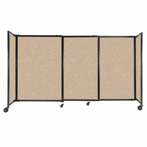 """StraightWall Sliding Portable Partition 7'2"""" x 4' Beige Fabric"""