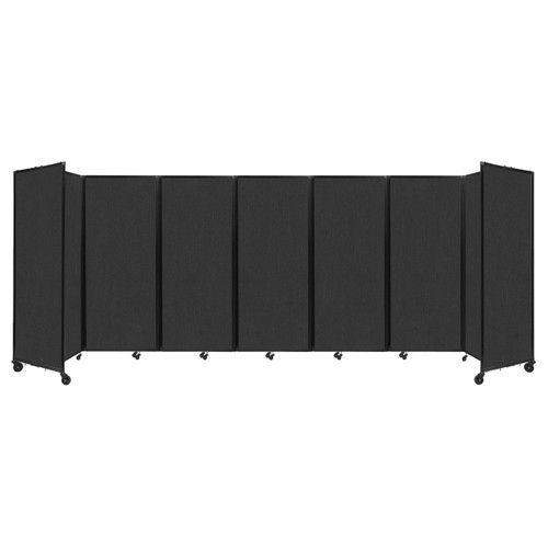 """Room Divider 360 Folding Portable Partition 19'6"""" x 6'10"""" Black Fabric"""