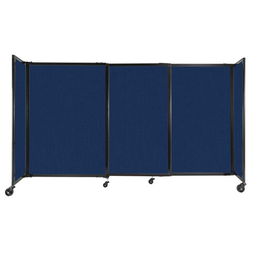 """StraightWall Sliding Portable Partition 7'2"""" x 4' Navy Blue Fabric"""