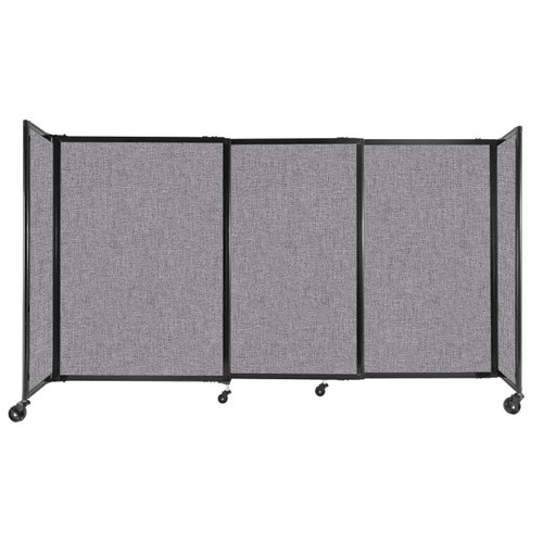 """StraightWall Sliding Portable Partition 7'2"""" x 4' Cloud Gray Fabric"""