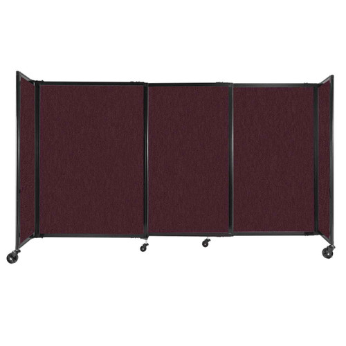 """StraightWall Sliding Portable Partition 7'2"""" x 4' Cranberry Fabric"""