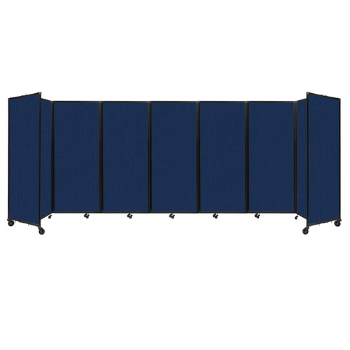 """Room Divider 360 Folding Portable Partition 19'6"""" x 6'10"""" Navy Blue Fabric"""