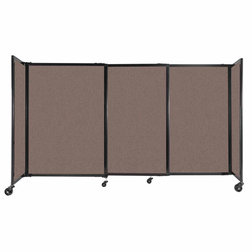 """StraightWall Sliding Portable Partition 7'2"""" x 4' Latte Fabric"""