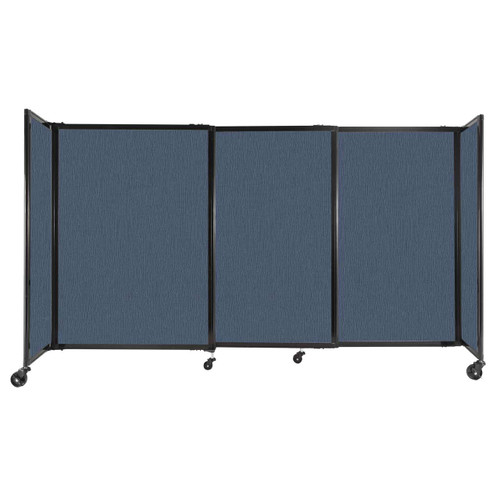 """StraightWall Sliding Portable Partition 7'2"""" x 4' Ocean Fabric"""