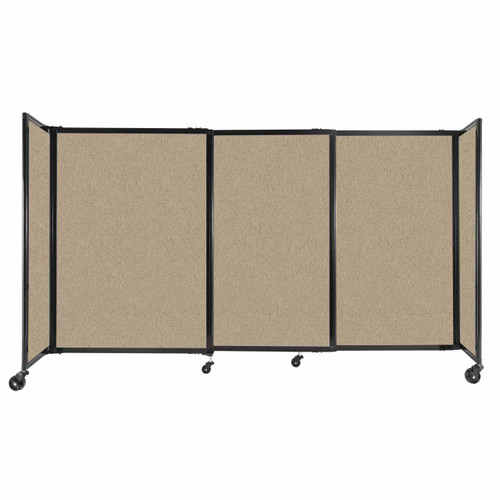 """StraightWall Sliding Portable Partition 7'2"""" x 4' Rye Fabric"""