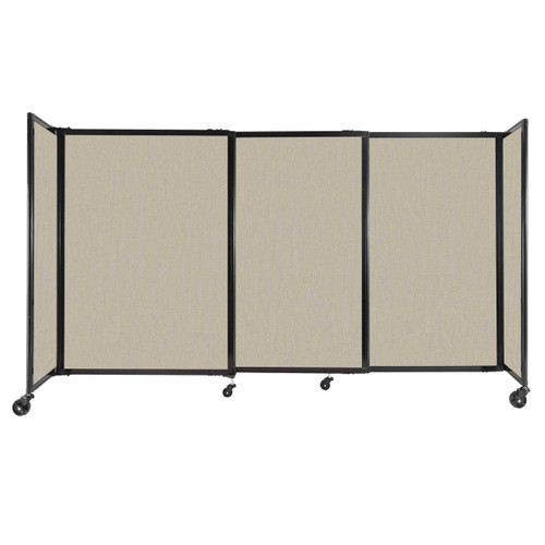 """StraightWall Sliding Portable Partition 7'2"""" x 4' Sand Fabric"""