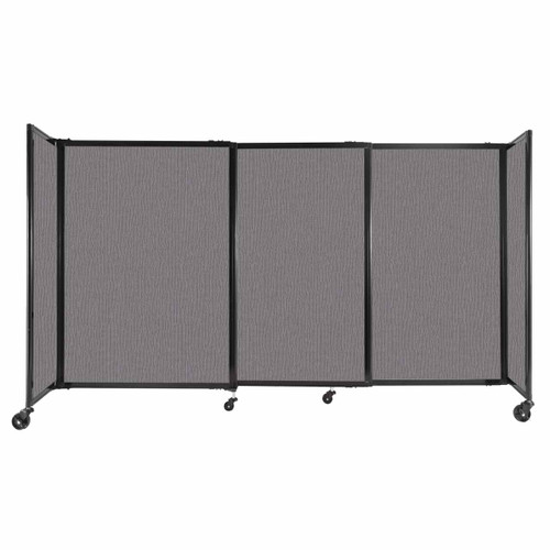 """StraightWall Sliding Portable Partition 7'2"""" x 4' Slate Fabric"""