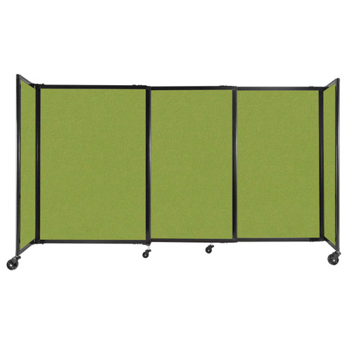 """StraightWall Sliding Portable Partition 7'2"""" x 4' Lime Green Fabric"""