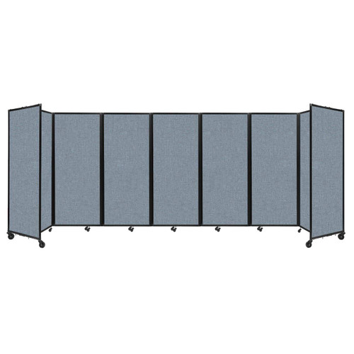 """Room Divider 360 Folding Portable Partition 19'6"""" x 6'10"""" Powder Blue Fabric"""