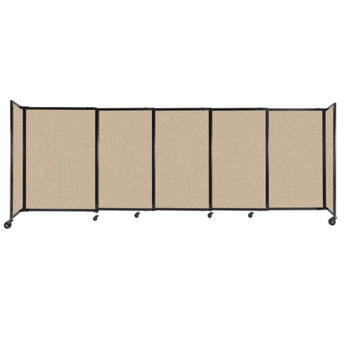 """StraightWall Sliding Portable Partition 11'3"""" x 4' Beige Fabric"""