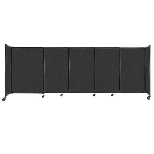 """StraightWall Sliding Portable Partition 11'3"""" x 4' Black Fabric"""