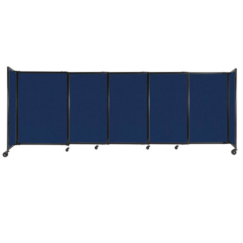 """StraightWall Sliding Portable Partition 11'3"""" x 4' Navy Blue Fabric"""
