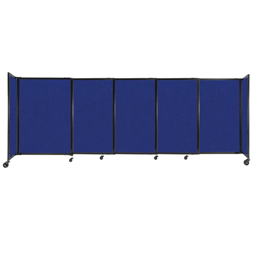 """StraightWall Sliding Portable Partition 11'3"""" x 4' Royal Blue Fabric"""