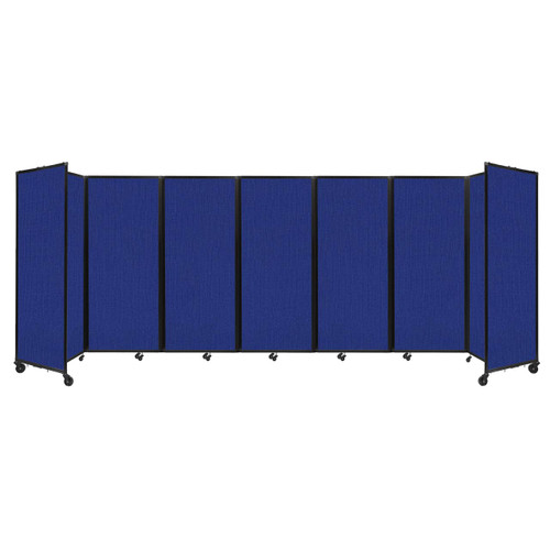 """Room Divider 360 Folding Portable Partition 19'6"""" x 6'10"""" Royal Blue Fabric"""