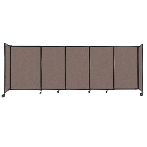 """StraightWall Sliding Portable Partition 11'3"""" x 4' Latte Fabric"""