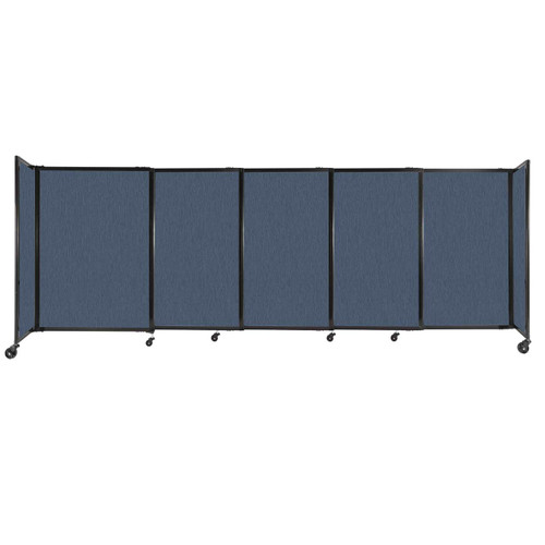 """StraightWall Sliding Portable Partition 11'3"""" x 4' Ocean Fabric"""