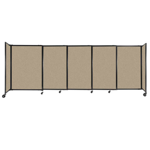 """StraightWall Sliding Portable Partition 11'3"""" x 4' Rye Fabric"""